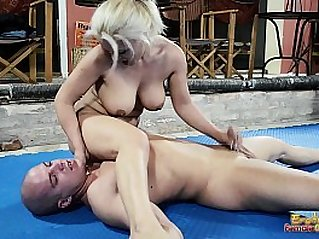 Nude Mixed Wrestling Fight With Handjob