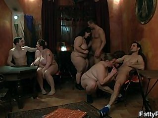 Fat bitch spreads her legs for hard big cock
