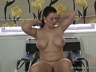 Curvaceous Big Breasted Babe Masturbates To A Real Orgasm