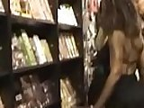 SLUTS in SHOP flashing and anal session with customers