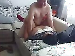 Chinese couple have multiple sex on sofa