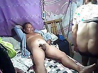 Chinese new amateur Dirty little girl and daddy