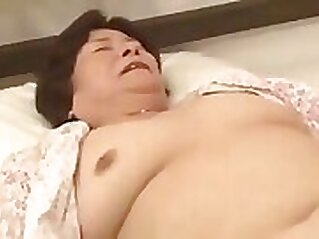 Chatty, japanese granny gets caught and fucked