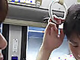 Asian milf sucking dick in the bus