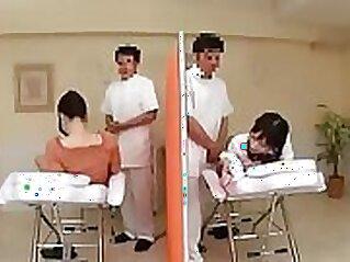 Blonde Nurse Masturbates on Her Oiled Massage Table